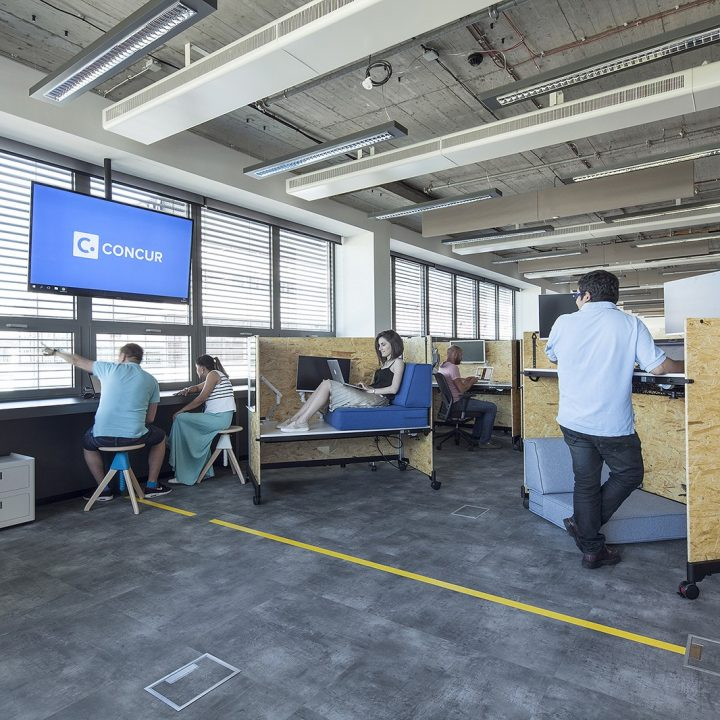 Les tendances d'aménagement d'un bureau moderne et design