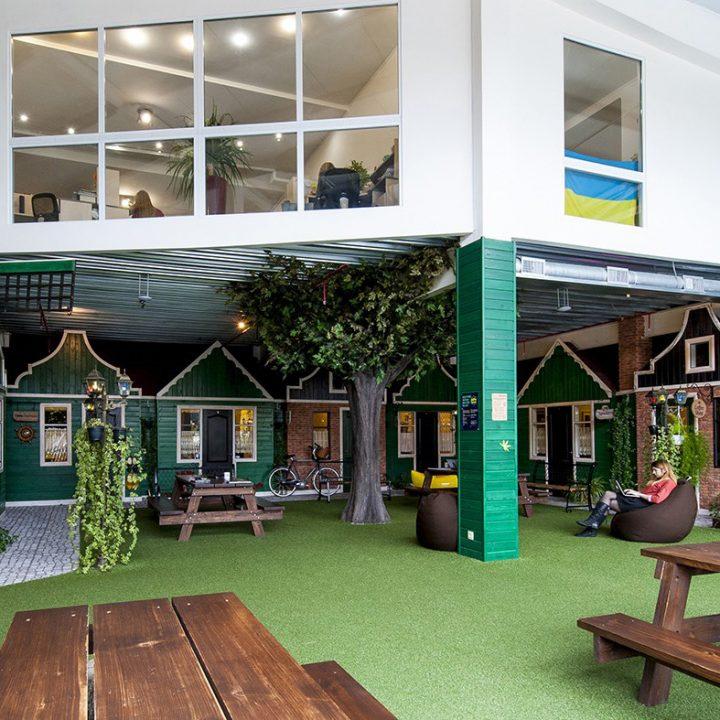 Une idée verte pour la salle de relaxation en entreprise